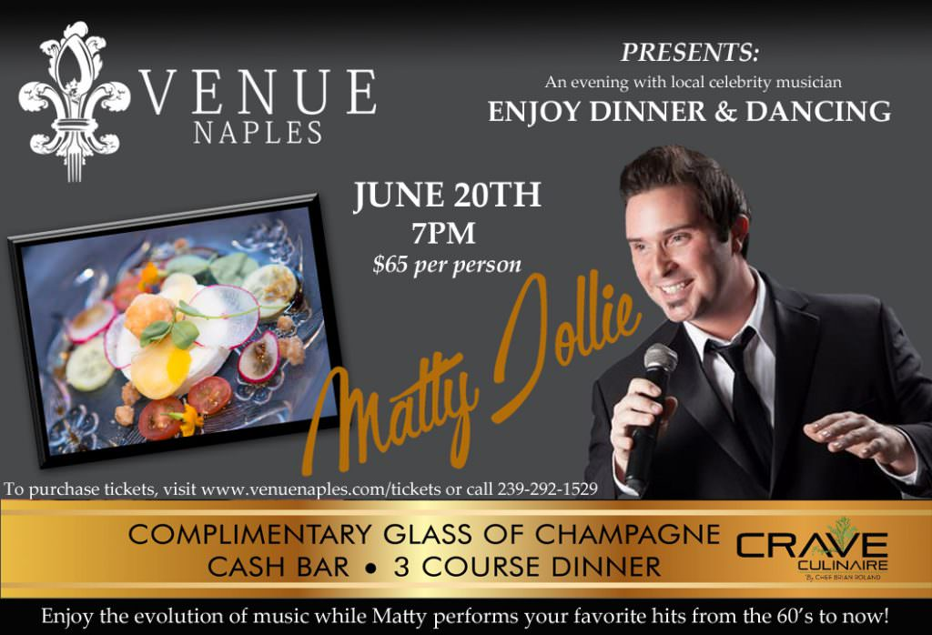 An Evening with Matty Jollie at Venue Naples @ Venue Naples   Naples   Florida   United States