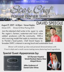 STAR CHEFS POP UP SERIES: David Speegle August 17th @ Venue Naples | Naples | Florida | United States