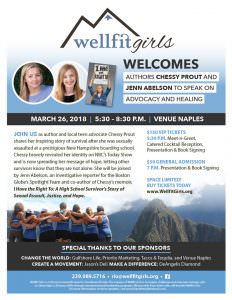 Wellfit Girls Welcomes Authors Chessy Prout and Jenn Abelson to Speak on Advocacy and Healing @ Venue Naples | Naples | Florida | United States