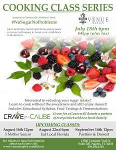 Crave Cooking Class Series: #nosugarnoproblems! @ Venue Naples | Naples | Florida | United States