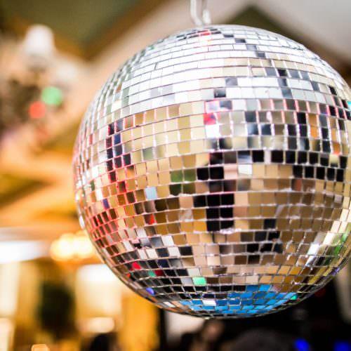 Disco Ball at Reception