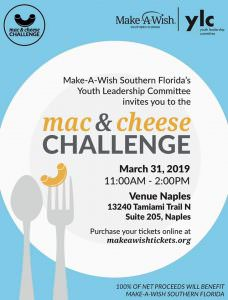 Make a Wish Foundation Mac n' Cheese Event @ Venue Naples | Naples | Florida | United States