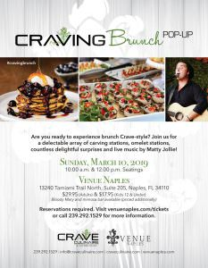 Craving Brunch Pop Up March 10, 2019 @ Venue Naples | Naples | Florida | United States