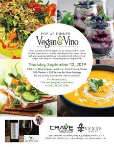 VEGAN & VINO POP-UP DINNER @ Venue Naples | Naples | Florida | United States
