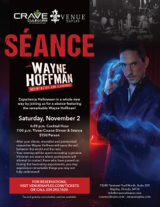 WAYNE HOFFMAN DINNER AND A SÉANCE @ Venue Naples | Naples | Florida | United States
